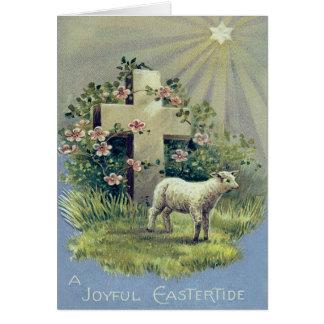 Cartão Estrela transversal cristã do cordeiro