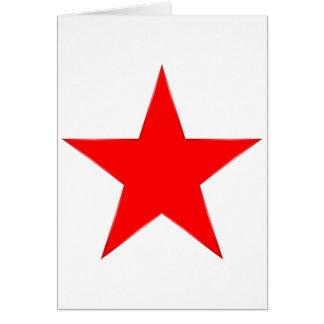 Cartão Estrela vermelha
