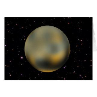 Cartão estrelado do céu de Pluto do planeta