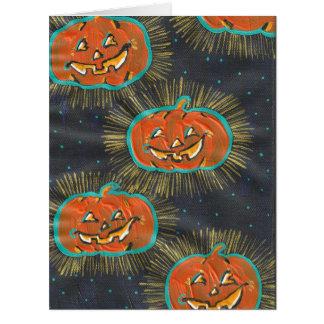 Cartão estrelado do Dia das Bruxas dos jaques