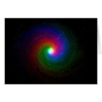 Cartão Estrelas coloridas que rodam para um centro