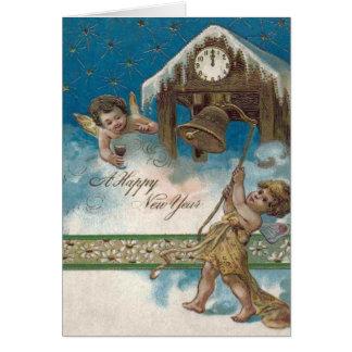 Cartão Estrelas da meia-noite da margarida do pulso de