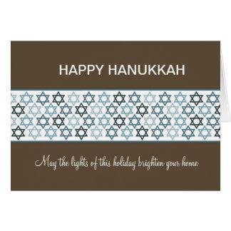 Cartão Estrelas de David felizes de Hanukkah