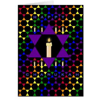Cartão Estrelas de Hanukkah