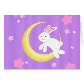 Cartão Estrelas do coelho da lua