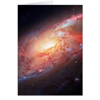 Cartão Estrelas do universo da Via Láctea do Andromeda da