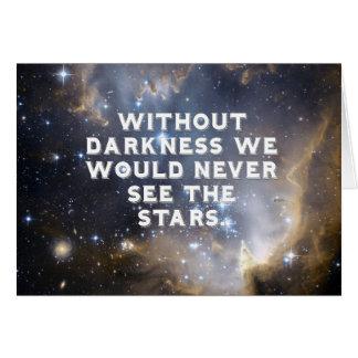 Cartão Estrelas e galáxia inspiradas