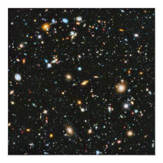 Cartão Estrelas e galáxias do espaço profundo