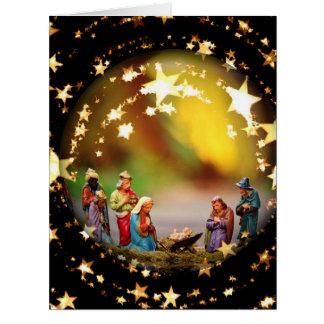 Cartão Estrelas infantis de Jesus da Virgem Maria da ucha