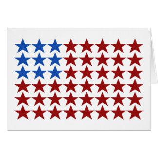 Cartão - estrelas patrióticas da bandeira