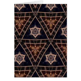 Cartão Estrelas & pirâmides