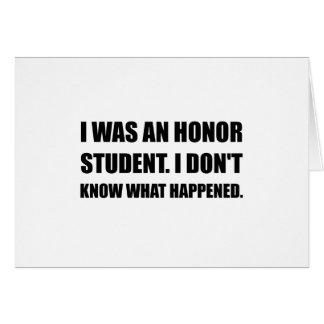 Cartão Estudante da honra o que aconteceu
