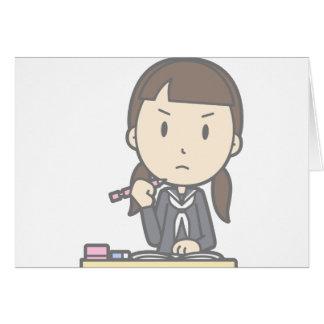 Cartão Estudante mal-humorado