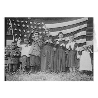 Cartão Estudantes Cincinnati 1918 da escola do St. Rita