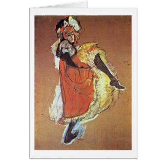 Cartão Estudo da dança de Jane por Henri De