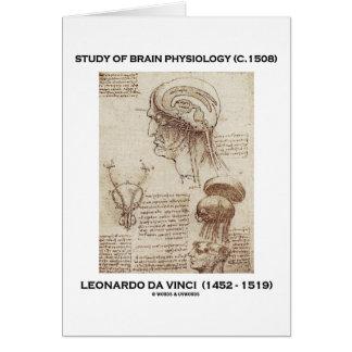 Cartão Estudo da fisiologia do cérebro (Leonardo da Vinci
