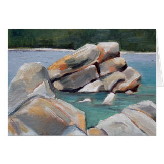 Cartão Estudo da rocha do porto da areia
