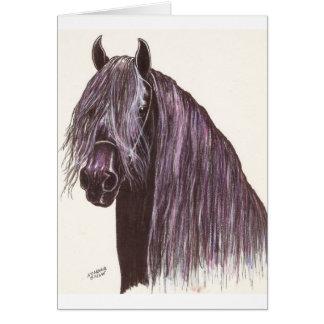 Cartão Estudo do cavalo do frisão