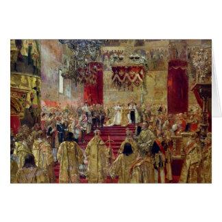 Cartão Estudo para a coroação do Tsar Nicholas II