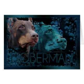 Cartão Eternidade - Doberman