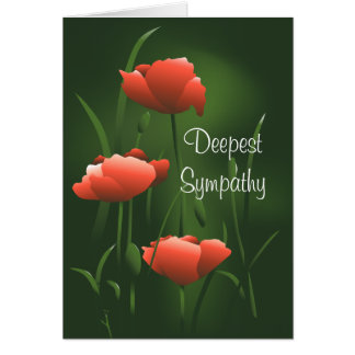 Cartão eterno da papoila da simpatia a mais