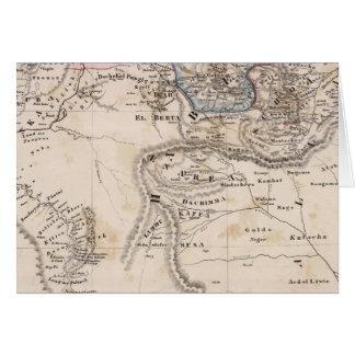Cartão Etiópia, Somália, África