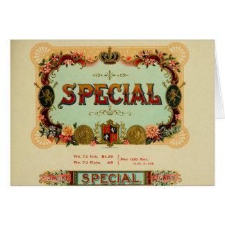 Cartão Etiqueta da caixa de charuto do vintage