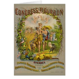 Cartão Etiqueta retro 1864 de Bourbon
