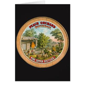 Cartão Etiqueta retro 1873 de Bourbon