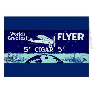 Cartão Etiqueta retro 1930 do tabaco