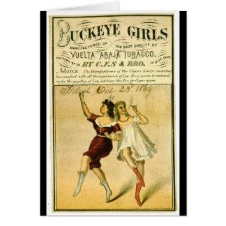 Cartão Etiqueta retro do tabaco f 1869