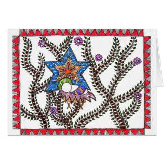 Cartão étnico do Natal de Emmanuel