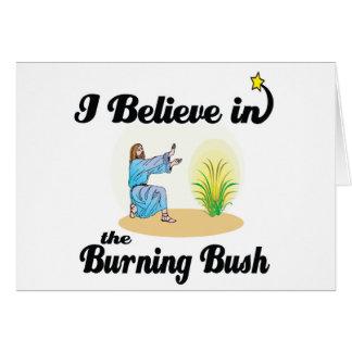 Cartão eu acredito em arbusto ardente