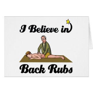 Cartão eu acredito em RUB traseiras