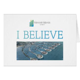 Cartão EU ACREDITO - ilhas de Menorah