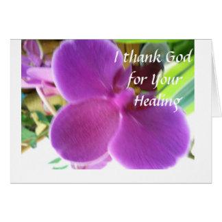 Cartão Eu agradeço ao deus para sua cura