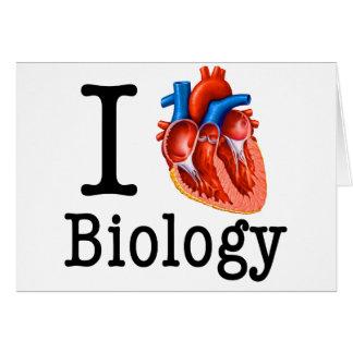 Cartão Eu amo a biologia