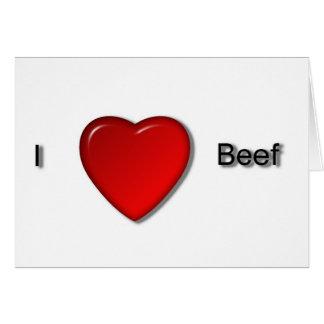 Cartão Eu amo a carne