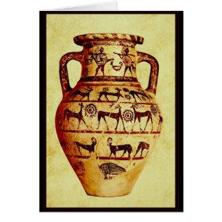 Cartão Eu amo a cerâmica antiga