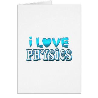 Cartão Eu amo a física