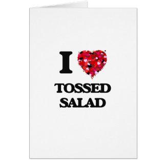 Cartão Eu amo a salada lanç