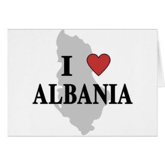 Cartão Eu amo Albânia