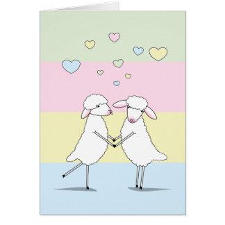 Cartão Eu amo amor Woolly de You>Sheep> Humor>A o grande