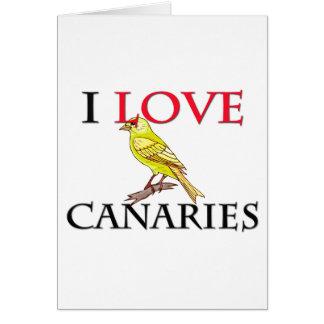 Cartão Eu amo Canaries