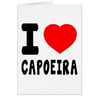 Cartão Eu amo Capoeira