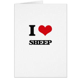 Cartão Eu amo carneiros