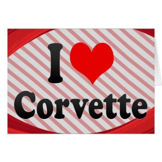 Cartão Eu amo Corveta