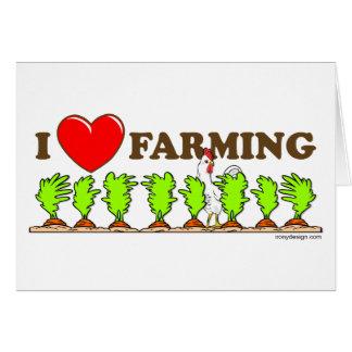 Cartão Eu amo cultivar
