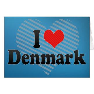 Cartão Eu amo Dinamarca