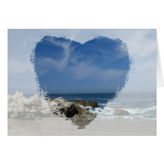Cartão Eu amo esta praia; Dia das mães feliz